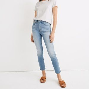 Madewell High Rise Skinny Crop Jeans in Horne Wash
